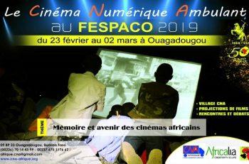 Le cinéma Numérique ambulant au Fespaco 2019 à Ouagadougou.