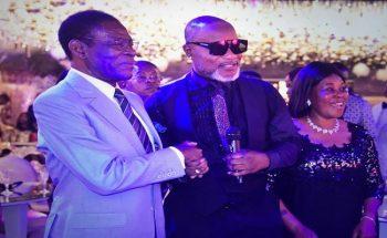 Guinée Equatoriale - Le couple présidentiel- dîner de gala - fêtes de fin d'année 2018.