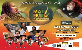 La 14e edition du FESTI MALI REGGAE 2019, Bamako du 21 au 23 Février 2019.