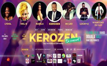 Kerozen en concert à Douala au mois d'avril 2019.