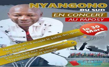 Le lion Nyango du Sud en concert explosif au palais des sports de Yaoundé.
