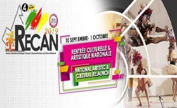 La RECAN 2019 : la rentrée culturelle et artistique nationale, du 10 septembre au 1er octobre 2019.