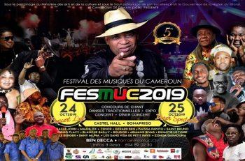 Le Festival des Musiques du Cameroun (FESMUC), du 24 au 25 octobre 2019 à Douala.