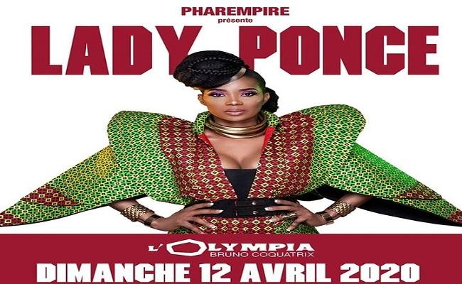 Lady Ponce en concert le 12 Avril 2020 à l'Olympia de Paris.