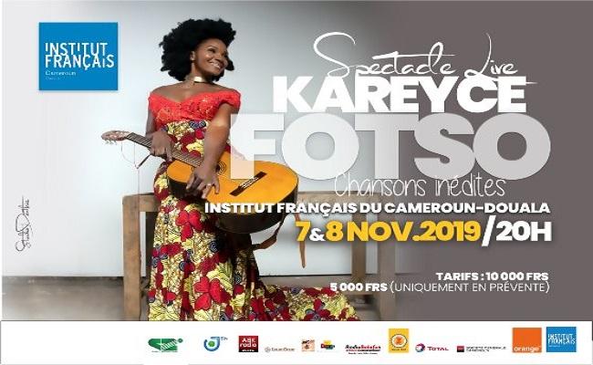Spectacle live de Kareyce Fotso a l'IFC de Douala.