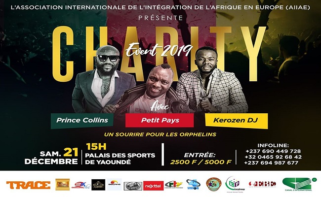 Charity Events 2019, le 21 décembre 2019 au palais des sports de Yaoundé.