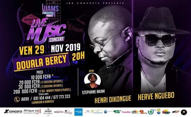 Live Music Concert, Henri Dikongue en sur scène à Douala Bercy.