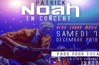 Patrick NOAH EN CONCERT live le 7 décembre 2019 à l'IFC de Yaoundé.