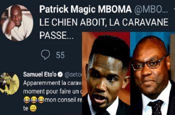 Samuel Etoo & Patrick Mboma en guerre