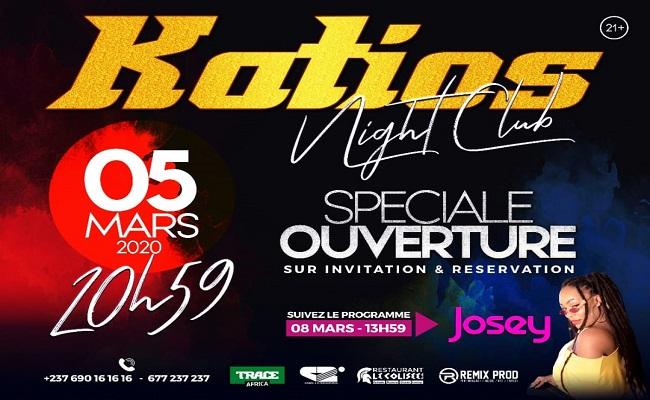 Showbiz Cameroun: Le katios Night Club fait son come back le 5 Mars 2020.